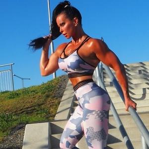 RAW By Adriana Kuhl Urban Tights 2 Pink Camo