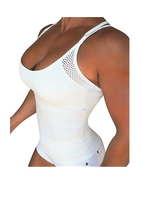 RAW By Adriana Kuhl Tanktop Athletic White