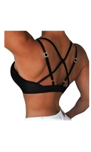 RAW By Adriana Kuhl Athletic Push Up Sports Bra Black
