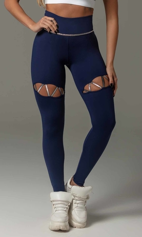 HIPKINI Fit Line Tights Marine Blue