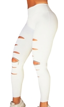 RAW By Adriana Kuhl Rebel Tights White