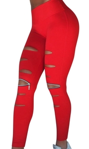 RAW By Adriana Kuhl Rebel Tights Red