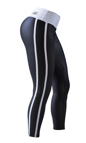 Bia Brazil Leggings 2462 Curves Metallic Black