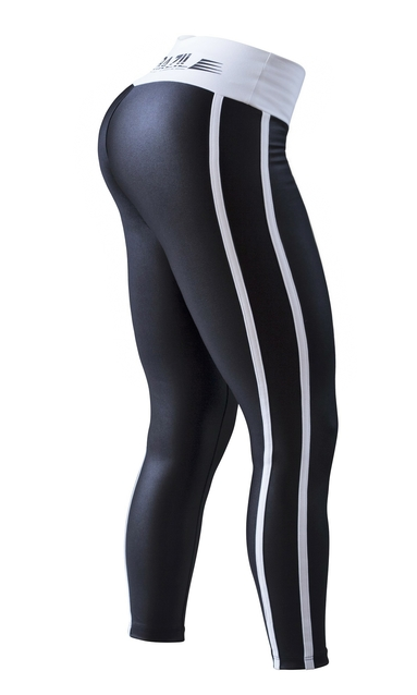 Bia Brazil Leggings 2462 Curves Metallic Black