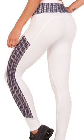 Bia Brazil Tights 5138 White/Mesh Lavendel