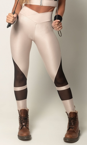 HIPKINI Street Tights Beige/Black