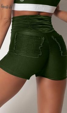 HIPKINI Ruffle Shorts Army