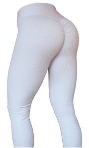 RAW By Adriana Kuhl Brazilian Butt Scrunch Tights White