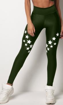 HIPKINI Stars Tights Army