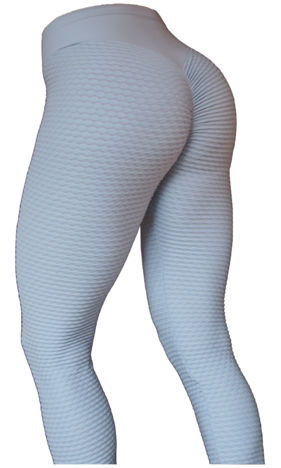RAW By Adriana Kuhl Brazilian Butt Scrunch Tights Light Grey