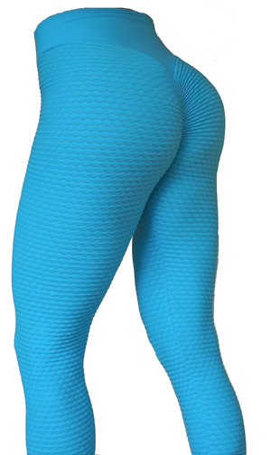 RAW By Adriana Kuhl Brazilian Butt Scrunch Tights Light Blue