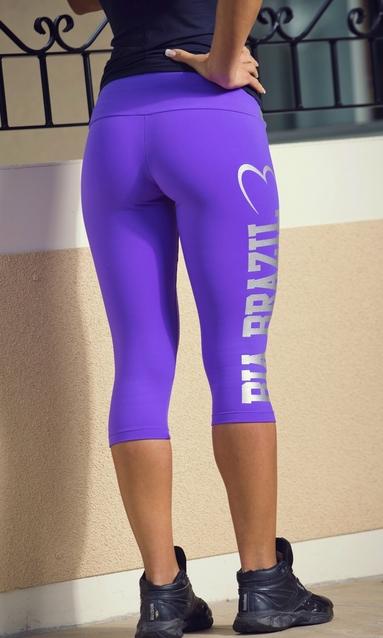 Bia Brazil Short Leggins 3115 Logo Magic Purple