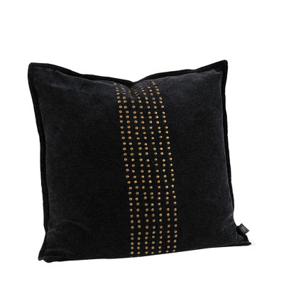KELLY STUDS BLACK Cushioncover