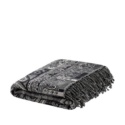 EROZ PAISLEY LIGHT GREY Throw