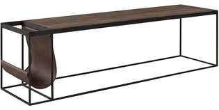 MAGAZINE BLACK Coffee table / Media bench (2 sizes)