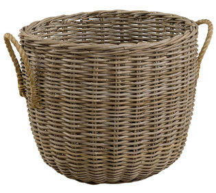 STORAGE WITH HEMP HANDLES Basket