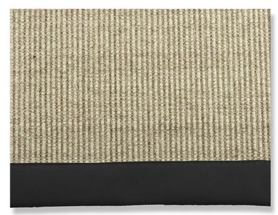 SISAL BLACK Carpet (2 sizes or on request)