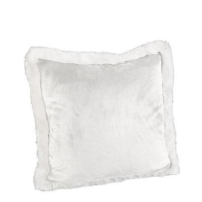 LEIA WHITE VELBOA Cushioncover
