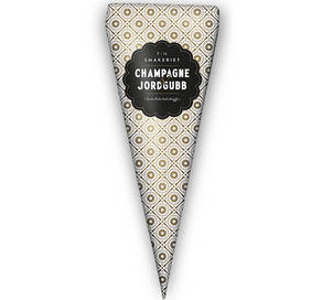 Champagne & Jordgubb Chokladtryfflar i strut