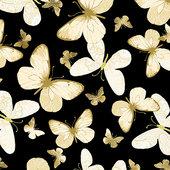 Shimmer Butterfly Black