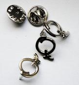 Pins liten, silver