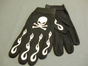 Handske Skull/Bones