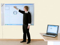 Halvmatt Whiteboard Alu 350x122 cm
