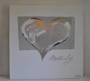 Tavla Lovely Heart målad på duk från RBA
