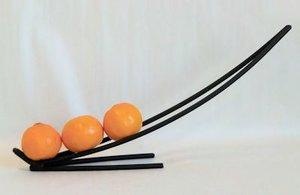 Fruktfat i svart smide, från Spegels