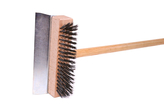 Brush with scraper