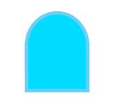 Golvglas med fasettkant
