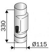 Savuputki 115 mm pellillä RST
