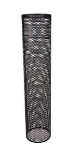 Perforerade ytterrör 1000 mm  svart, 200