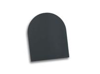 Golvskydd/golvplåt i svart och grå email