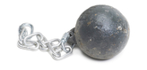 Soot ball with chain