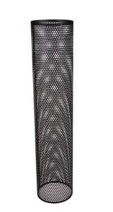 Perforerade ytterrör 1000 mm  svart