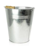 Zinc bucket with wooden handle 10 L