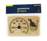 Bastutermometer trä