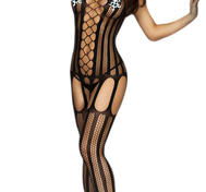 Black Fishnet Body Stocking
