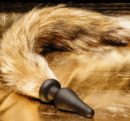 Fox Tail Yellow/Brown, Silicone Plug