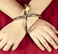 Stainless Steel Cross Cuffs