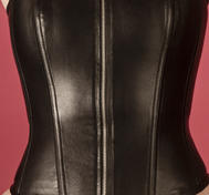 Leather corset with thin strips