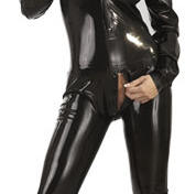 Rubber Jump Suit Black