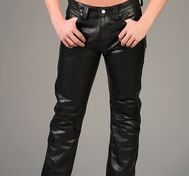 "Black leather pants ""Classic model"""