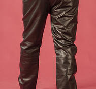 "Black Leather Pants - ""Loose Fit"""
