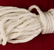White special rope made of silk, for bondage