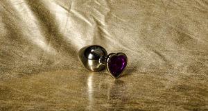 Anal Jewelry Heart Crystal