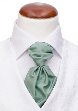 Kravatt och näsduk green plain
