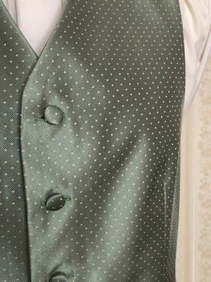 Väst Antonio grön botten med vita prickar