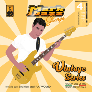 MB Vintage Stainless Flat Wound - 045 065 085 105